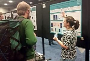 Elisa presenting her poster at SfN 2014
