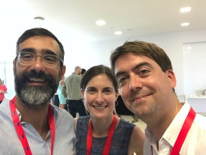 Carlos, Megan and Matt making science more open in Lisbon